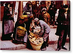 Italian Immigrants Selling Bread Acrylic Print by Everett