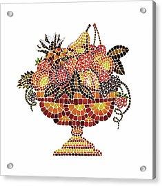 Italian Mosaic Vase With Fruits Acrylic Print by Irina Sztukowski