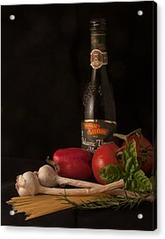 Italian Palate Number 1 Acrylic Print by Constance Sanders