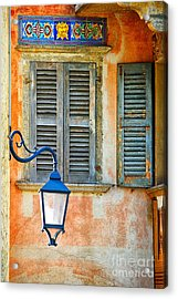 Italian Street Lamp With Window And Decorated Wall Acrylic Print