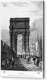 Italy: Ancona, 1833 Acrylic Print by Granger