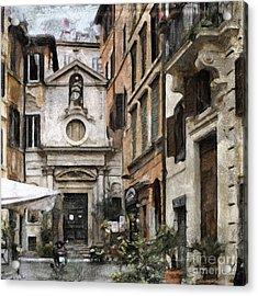 Italy Arty Acrylic Print by Lutz Baar