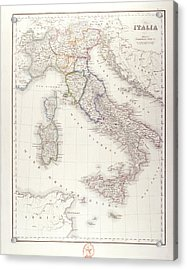 Italy Before Unification Acrylic Print by Fototeca Storica Nazionale