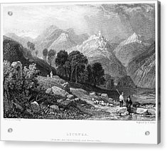 Italy: Licenza, 1833 Acrylic Print by Granger