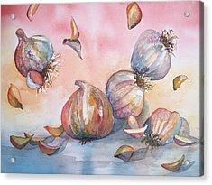 Its Raining Garlic Acrylic Print by Sandy Collier