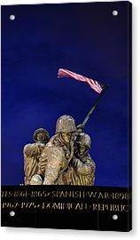 Iwo Jima Memorial Front View Acrylic Print by Metro DC Photography