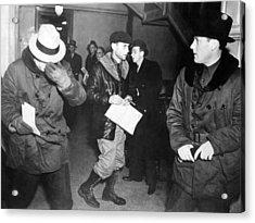 J. Edgar Hoover Arriving In St. Paul Acrylic Print by Everett