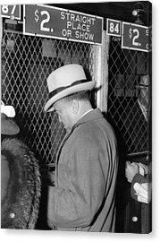 J. Edgar Hoover Placing A Bet Acrylic Print by Everett