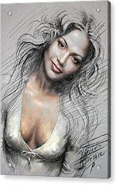J L0 Acrylic Print by Ylli Haruni