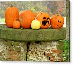 Acrylic Print featuring the photograph Jack-0-lanterns by Lainie Wrightson
