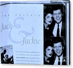 Jack And Jackie In Life Magazine Acrylic Print by Marsha Heiken