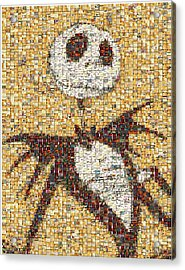 Jack Halloween Mosaic Acrylic Print by Paul Van Scott