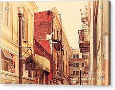 Jack Kerouac Street San Francisco . 7d7437 Acrylic Print by Wingsdomain Art and Photography