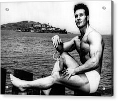 Jack Lalanne Before Handcuffed Swim Acrylic Print by Everett