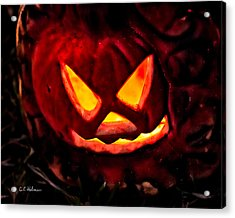 Jack-o-lantern Acrylic Print by Christopher Holmes