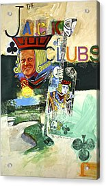 Acrylic Print featuring the painting Jack Of Clubs 50-52 by Cliff Spohn