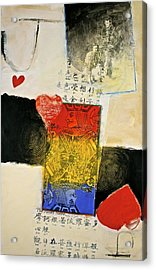 Acrylic Print featuring the painting Jack Of Hearts 46-52 by Cliff Spohn