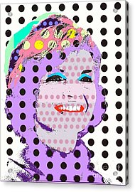 Jackie O Acrylic Print by Ricky Sencion
