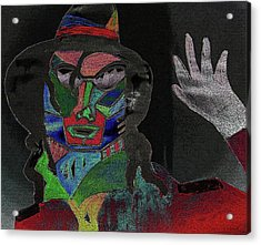 Jacko Acrylic Print by Karen Elzinga