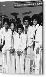 Jackson Five, The Group Portrait Shot Acrylic Print by Everett