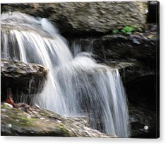 Acrylic Print featuring the photograph Jackson Hole Waterfall by Shawn Hughes