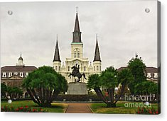 Jackson Square Acrylic Print by Perry Webster