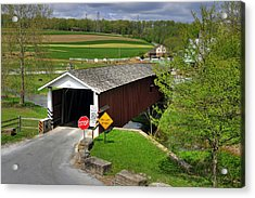 Acrylic Print featuring the photograph Jacksons Sawmill Covered Bridge by Dan Myers