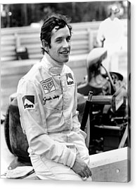 Jacky Ickx Acrylic Print by Mike Flynn