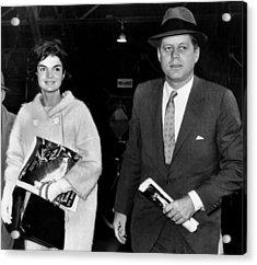 Jacqueline Kennedy And John F. Kennedy Acrylic Print by Everett