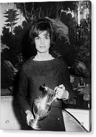 Jacqueline Kennedy Holds A Silver Acrylic Print by Everett