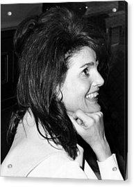 Jacqueline Onassis Watching Acrylic Print by Everett
