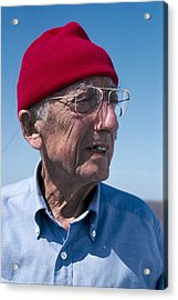 Jacques-yves Cousteau, French Diver Acrylic Print by Alexis Rosenfeld