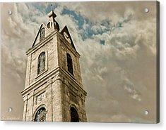 Jaffa Clocktower Acrylic Print by Amr Miqdadi