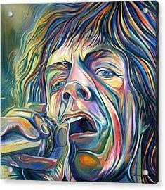Jagger Acrylic Print by Redlime Art