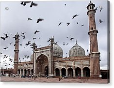 Jama Masjid (mosque) Acrylic Print by Guylain Doyle