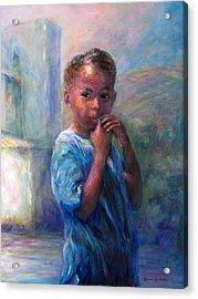Jamacian Girl Acrylic Print