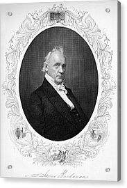 James Buchanan (1791-1968) Acrylic Print by Granger