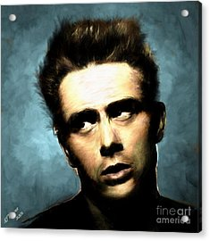 James Dean Acrylic Print by Arne Hansen