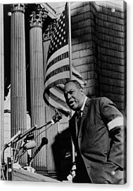 James Farmer, Speaking At Foley Square Acrylic Print by Everett