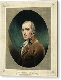 James Gillray, British Caricaturist Acrylic Print by Miriam And Ira D. Wallach Division Of Art, Prints And Photographsnew York Public Library