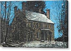 James Paul House In Durham Nh Acrylic Print by Robert Goudreau