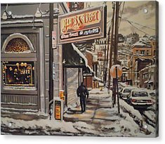 Acrylic Print featuring the painting James Street Restaurant  by James Guentner