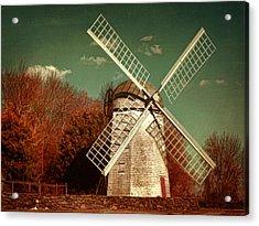 Jamestown Windmill Acrylic Print by Lourry Legarde