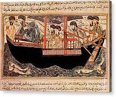 Jami Al-tawarikh, Noah And His Sons Acrylic Print by Photo Researchers