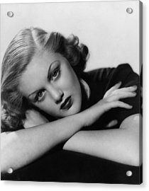 Jan Sterling, Late 1930s Acrylic Print by Everett