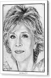 Jane Fonda In 2005 Acrylic Print by J McCombie