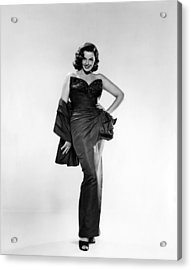 Jane Russell, Ca. Early 1950s Acrylic Print by Everett