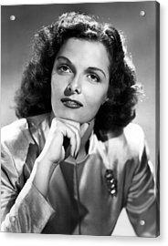 Jane Russell, Portrait Circa 1947 Acrylic Print by Everett