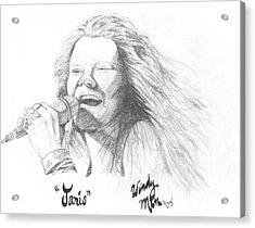 Janis Acrylic Print by Windy Mountain