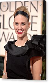 January Jones At Arrivals For The 67th Acrylic Print by Everett